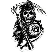 "SONS OF ANARCHY, Reaper, Officially Licensed, 4.5"" x 3"", Die-Cut STICKER ETIQUETA DECAL"