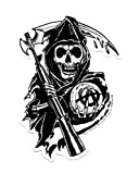 """SONS OF ANARCHY, Reaper, Officially Licensed, 4.5"""" x 3"""", Die-Cut STICKER ETIQUETA DECAL"""