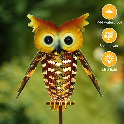 Xddias Solarleuchte Garten, LED Solar Garten Lampen IP44 Wasserdicht Wegeleuchte/Stehleuchte Draussen Dekorative für Hinterhöfe, Gärten, Rasen
