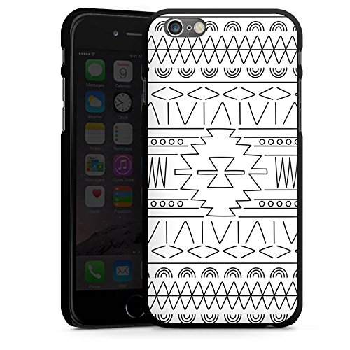 Apple iPhone 5s Housse Outdoor Étui militaire Coque Noir et blanc Ethnique Motif CasDur noir