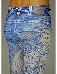 PR466 art.SUZAN - LEGGINGS imprimé FASHION FANTAISIE DE COULEUR - 100% fabriquées en Italie