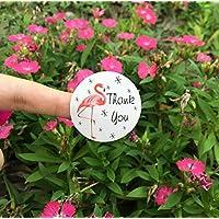 Gudhi - Pegatinas de flamenco con sello, 5 hojas con sobres de agradecimiento, etiquetas de paquete