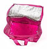 Kühltasche mit Kühlakku, Griffbänder, Volumen 7 Liter, faltbar, handlich, lieferbar in den Farben Pink, Blau oder Grün (Pink)