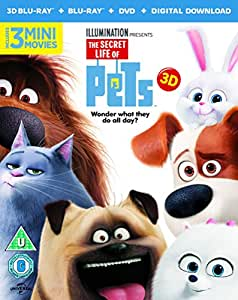 The Secret Life Of Pets (Blu-ray 3D + Blu-ray + DVD + Digital Download) [2015]