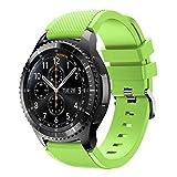 Bracelet de montre pour Samsung Gear S3Frontier, Ihee souple en silicone de remplacement Sport Strap Bracelet pour Samsung Gear S3Frontier M Green