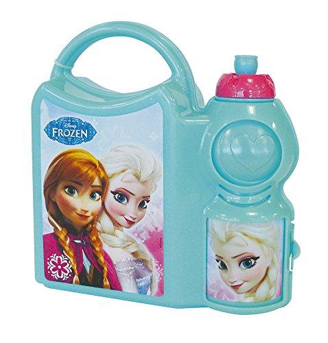 Fun House Disney Reines des Neiges Ensemble goûter : 1 gourde + 1 boîte 350 ml