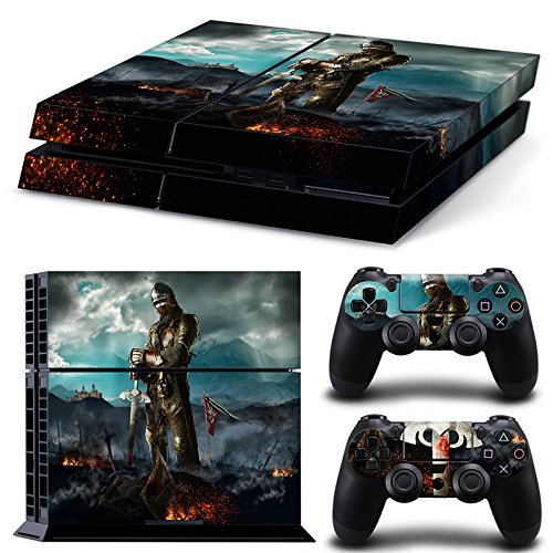 46 North Design Playstation 4 PS4 Folie Skin Sticker Konsole Medieval Honor aus Vinyl-Folie Aufkleber Und 2 x Controller folie