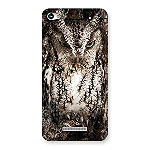 Wood Owl Back Case Cover for Micromax Hue 2
