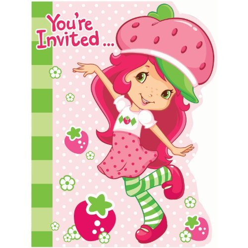 Strawberry Shortcake Kostüm Party - Strawberry Shortcake Invitations w/ Envelopes (8ct)