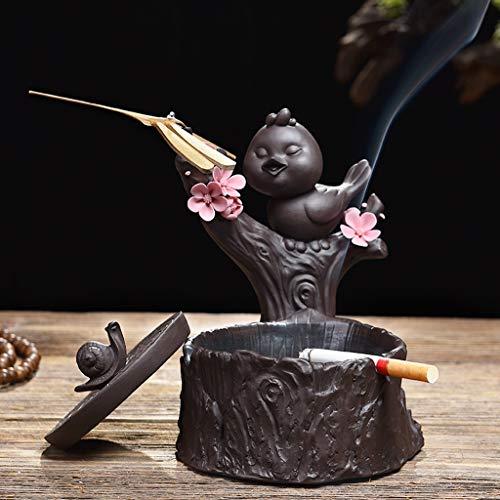 PLL Retro Kreative Kleine Vogel Modellierung Keramik Aschenbecher Mit Deckel Büro Wohnzimmer Couchtisch Haushalts Ornamente