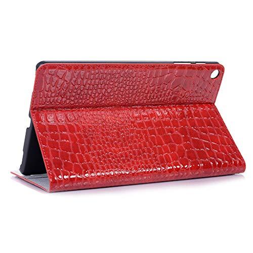für Samsung Galaxy Tab A SM-T515 / T510 2019 25,7 cm (10,1 Zoll), Krokodilleder-Optik, Unisex, rot ()