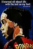 PosterHook Ronaldinho Football 300gsm Po...