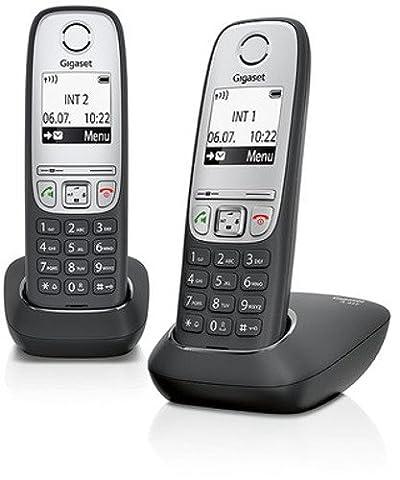 Gigaset A415 Duo Telefon - Schnurlostelefon / 2 Mobilteile mit Grafik Display - Dect-Telefon mit Freisprechfunktion - Analog Telefon - (Telefon Von Amazon)
