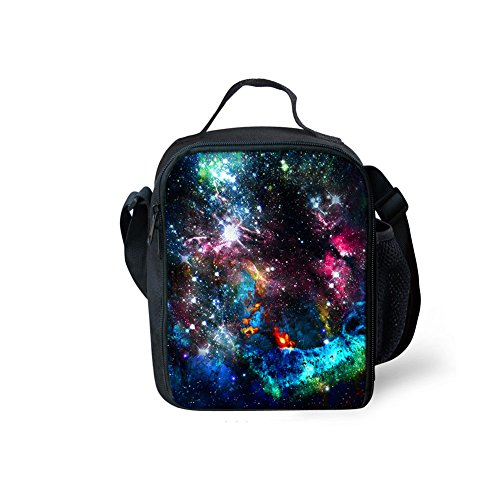 Yl Story Galaxy stelle 3D stampa borsa a tracolla Totes bambini impermeabile picnic sacchetti/borse per il pranzo Galaxy Star 5 Galaxy Star 2