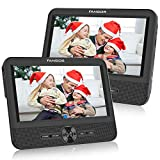 FANGOR Double Ecran 7.5'' Lecteur DVD Portable Voiture 1024 * 600 avec de Puissants Haut-parleurs stéréo, Prise en Charge USB/SD/AV in/AV Out(1 Lecteur DVD et 1 Moniteur)