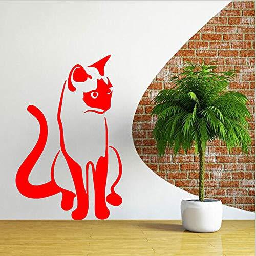 yiyiyaya Fototapete Home Schlafzimmer Art Decor Kinderzimmer Nette Vinyl Wandaufkleber Zeitgenössische Wandtattoo Für Wohnzimmer rot 57x88 cm