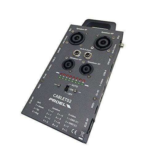 Proel CT02 Kabeltester für Audio und Video (Musica Y Video)