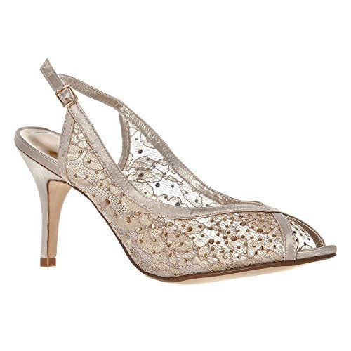 womens-ladies-medium-heel-open-toe-sling-back-shoe-mesh-finished-4-champagne