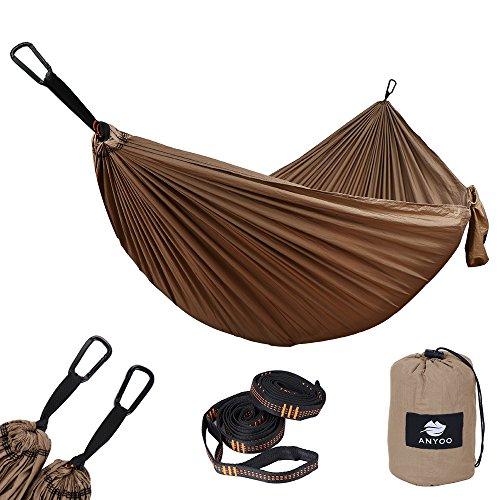 Anyoo amaca a paracadute per giardino esterno portatile campagna oscillante capacità 300 kg leggera con borsa per cortile spiaggia backpacking escursionismo campeggio