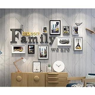 &Dekorative Wände Foto-Galerie-Rahmen-Satz der Wand mit verwendbarer Grafik und Familie, Satz von 9 Modischer Entwurf ( Farbe : A )