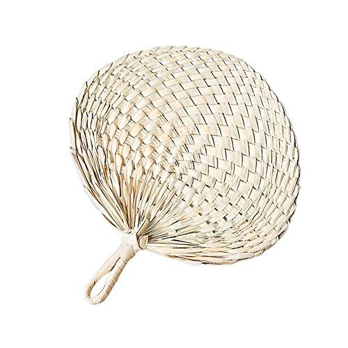 Prom-near Hand Fan natur Hand Weave Palm Leaf Fan Klinge Handheld Kühl Fan Handgemachte Palme-Blatt Ventilator der chinesischen Art-natürlichen kühlen Ventilator (Gewebte Palm Leaf)