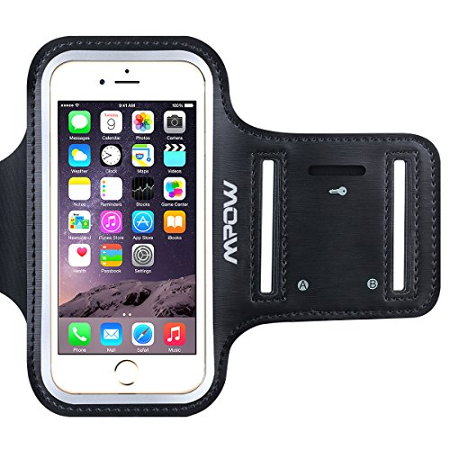 iPhone 6/6s Armband, Mpow? Ultra Soft Adjustable Sports Armband for iPhone 6 / iPhone 6s (4.7 inch) for Running, Biking, Hiking, Canoeing, Walking, Horseback Riding and other Sports, Black