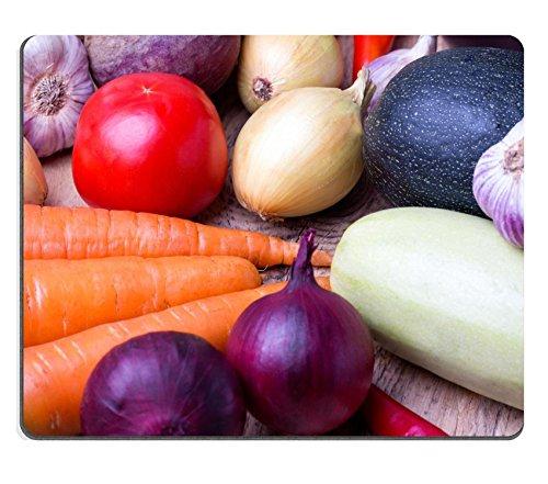 liili Mouse Pad de goma natural mousepad imagen ID 32814234Close Up de varios colores Raw verduras Cebolla Roja Coliflor Pimienta Tomate y ajo