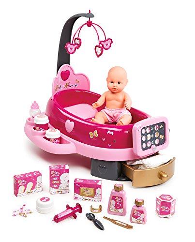 Smoby - 220317 - Baby Nurse - Nursery Electronique - + 1 Poupon et 24 Accessoires Inclus