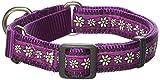 Red Dingo Martingale Daisy Kette 20mm Choke Halsband, mittel/groß, violett