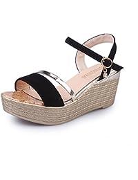 Mujer Sandalias Cuña, Culater Zapatos de Verano Open Toe Plataforma