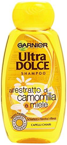 Garnier Ultra Dolce all'Estratto di Camomilla e Miele Shampoo per Capelli Chiari, 250 ml