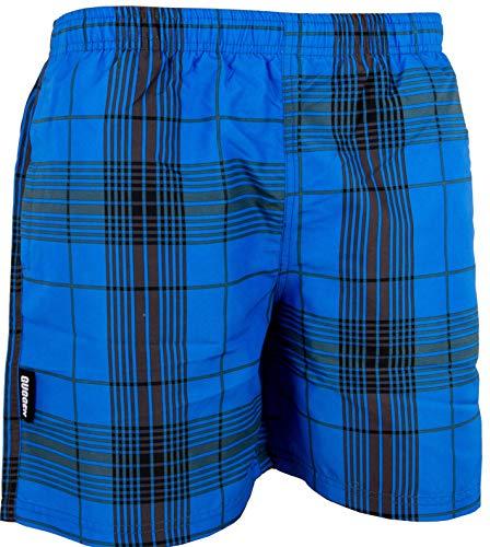 Haut Herren Boardshorts (GUGGEN Mountain Herren Badeshorts Beachshorts Boardshorts Badehose Schwimmhose Männer kariert Farbe Blau M)