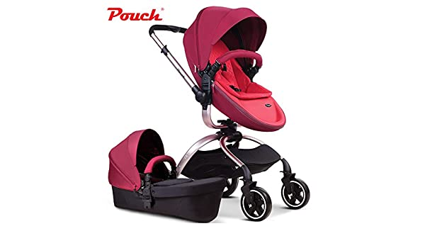 MOIMK Pushchairs 3-in-1 Stroller Multi-Function Two-Way High Landscape Sitting and Lying Folding Portable Shockproof Travel Baby Carriage,Khaki