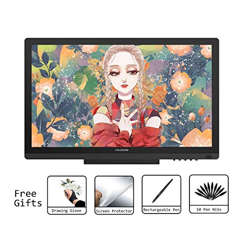 HUION KAMVAS GT-191 HD Stift-Display Grafiktabletts Digitaler Zeichenstift-Monitor 8192 Drucksensitivität 19,5 Zoll Grafiktabletts
