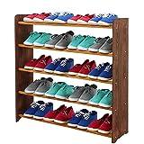 Schuhregal Schuhschrank Schuhe Schuhständer RBS-5-90 (Seiten dunkelbraun, Stangen in der Farbe erle)