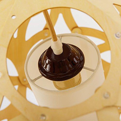 SJUN Kreatives Aus Holz Kronleuchter Amerikanischen Hölzernen Kugellampen 48Cm - 4