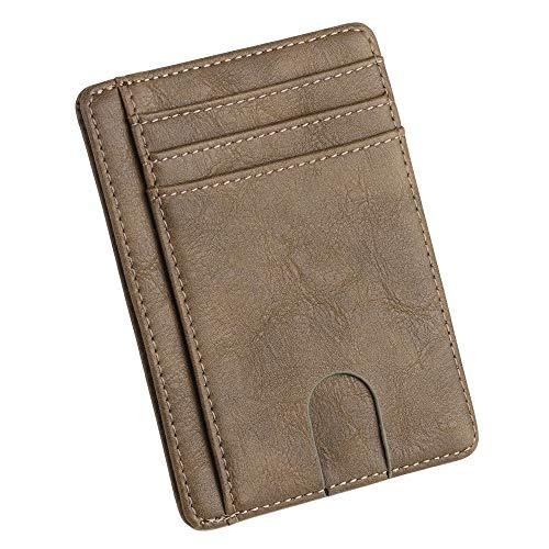 Home TüR Dekoration 2019, Herren Leder Geldbörse Thin Kreditkarteninhaber ID Case Handtasche Tasche ()