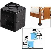 OFKPO 8 Unidades Elevadores para Muebles, Elevadores Ajustables para Camas, Mesas o Mobiliario,