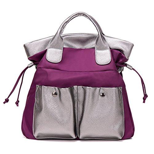 JOTHIN Wasserdicht Leinwand Umhängetasche Mode-Handtasche (Lila) (Handtasche Hobo Patchwork)