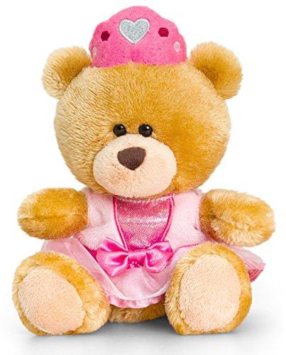 Lashuma Plüschtier Bär, Pipp The Bear als Prinzessin, Kuscheltier Teddy Bekleidet, Teddybär Braun ca. 14 cm (Königliche Hoheit Kostüm)