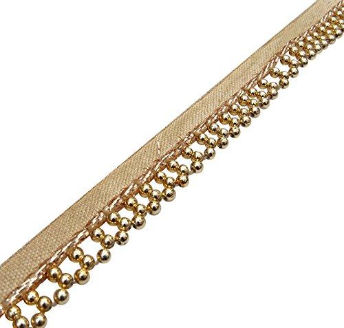 Fransen Trim Licht Gold Quaste Band-Fertigkeit Materialzufuhr 1,27 Cm Breit 1 Yard Gebördelt -