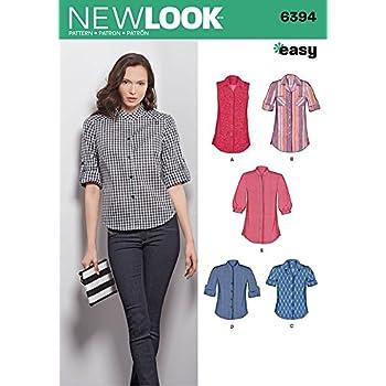 New Look Damen Schnittmuster 6394 Shirts & Blusen: Amazon.de: Küche ...
