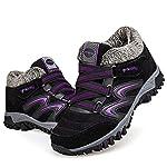 gracosy Women Flat Walking Hiking Ankle Boots, Winter Low Rise Slip On Trekking Footwear Anti-Slip Shoes with Fur Lined… 7