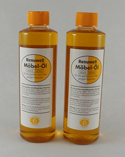 Renuwell Spar-Set Möbel-Öl 2x 500 ml