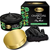 Oriental Botanics Activated Charcoal 3 IN 1 Clay Mask, 100g - Detoxifying, Whitening, Refreshing