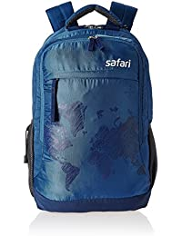 Safari Polyester 35 Ltrs Blue Laptop Backpack (WorldMap)