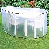 Schutzhülle oval für Gartenmöbel Gartentische Gartenstühle 230x160x90cm