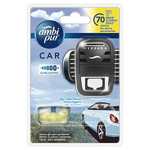 Ambi Pur Car Brezza Leggera Deodorante per Auto, Starter Kit, 7m