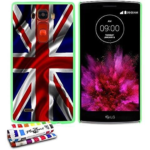 Carcasa Rigida Ultra-Slim LG G FLEX 2 de exclusivo motivo [Bandera gran bretana uk] [Verde] de MUZZANO  + ESTILETE y PAÑO MUZZANO REGALADOS - La Protección Antigolpes ULTIMA, ELEGANTE Y DURADERA para su LG G FLEX