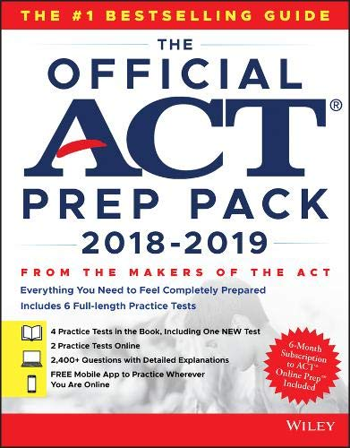 The Official ACT Prep Pack with 6 Full Practice Tests: (4 in Official ACT Prep Guide + 2 Online)